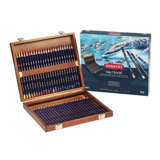 Derwent Inktense Pencil Wooden Box Set of 48