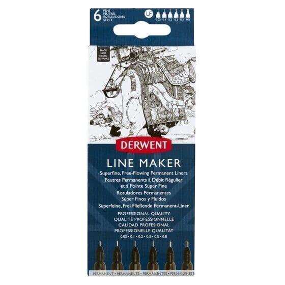 Derwent Line Maker Set of 6 Black