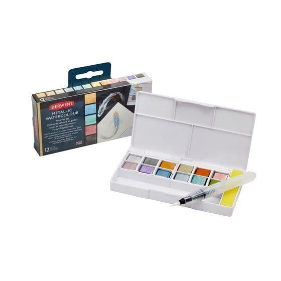 Derwent Metallic Paint Pan Palette Set