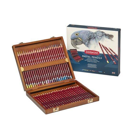 Derwent Pastel Pencil Wooden Box Set of 48