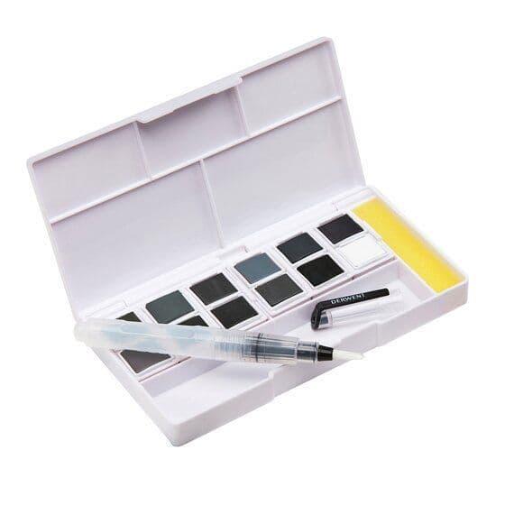 Derwent Tinted Charcoal Paint Pan Palette Set