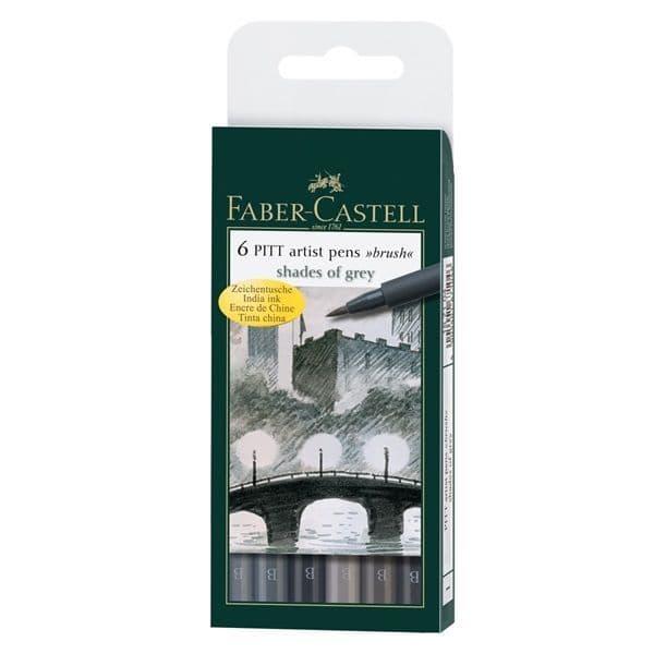 Faber-Castell 6 PITT Artist Pens Shades of Grey