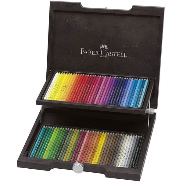 Faber - Castell 72 Polychromos Colour Pencils in Stained Wooden Case