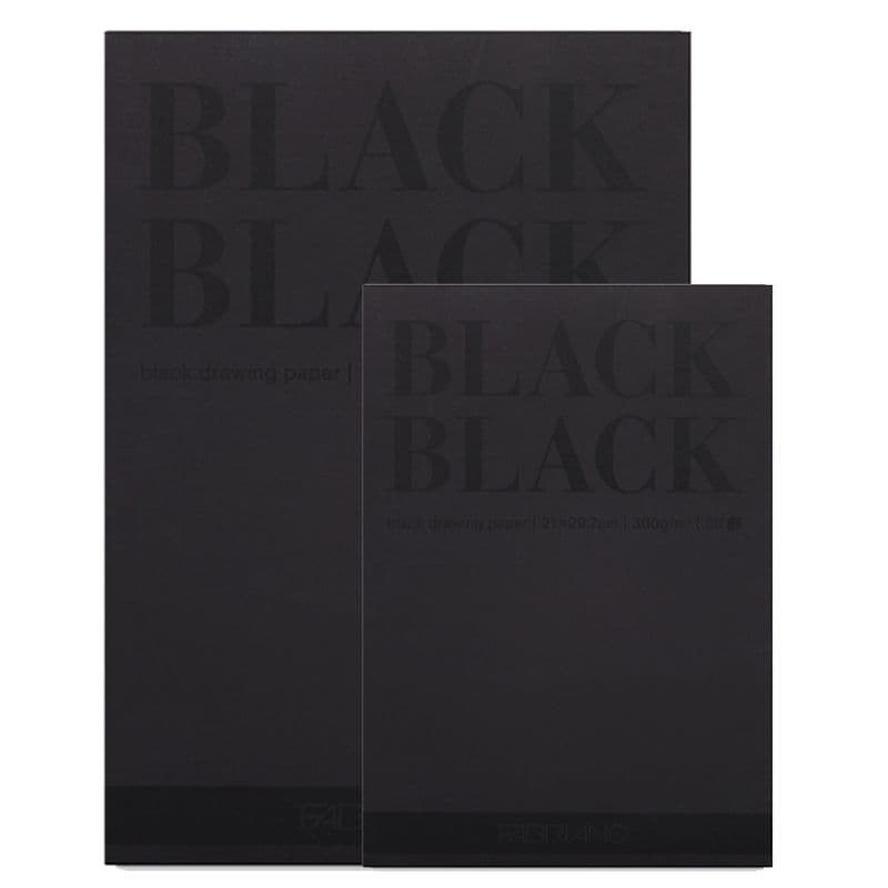 Fabriano Black Black drawing paper pad 20 sheets 300gsm