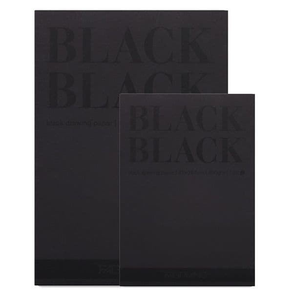 Fabriano Black Black drawing paper pad 20 sheets 300gsm