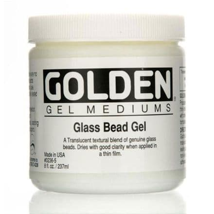 Golden Acrylic Glass Bead Gel Medium 237ml