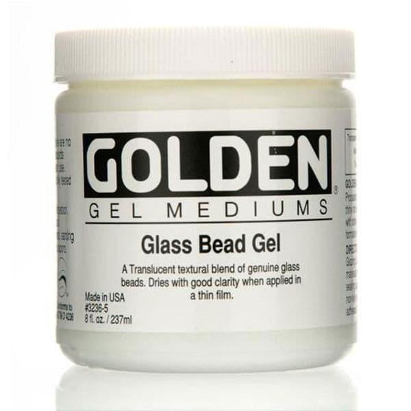 Golden Acrylic Glass Bead Gel Medium 237ml