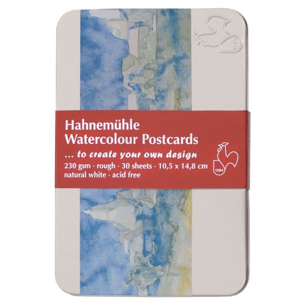 Hahnemuhle Watercolour Postcards in a Tin Pack of 30