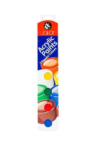 Jakar Acrylic Paint chain Set of 7 colours