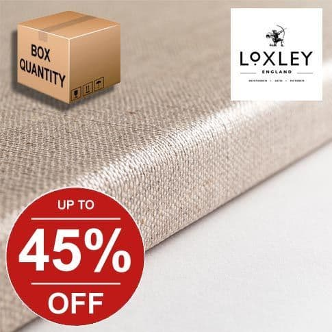 Loxley Linen Clear Primed Canvas Box Quantities