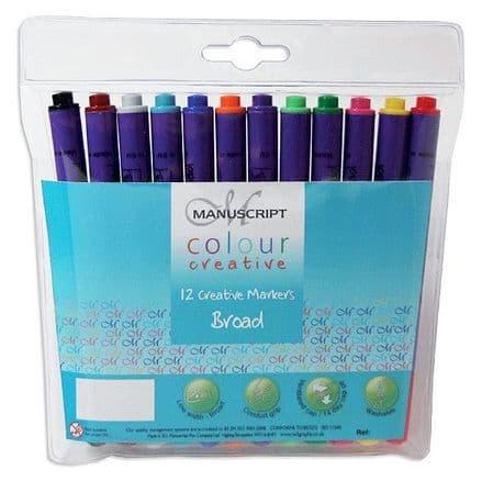Manuscript Colour Creative  Broad Markers Set