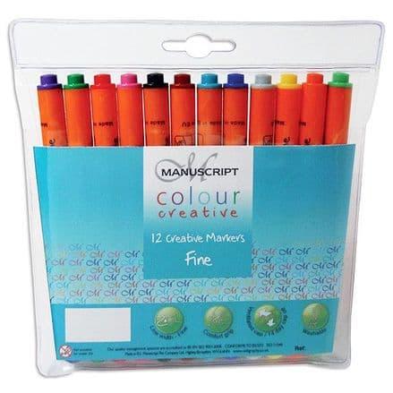 Manuscript Colour Creative  Fine Markers Set