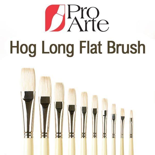 Pro Arte Series B Hog Long Flat Brush