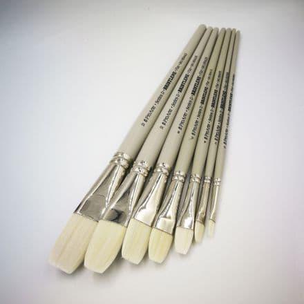 Pro Arte Series D Bristlene Oil Brushes, Flat