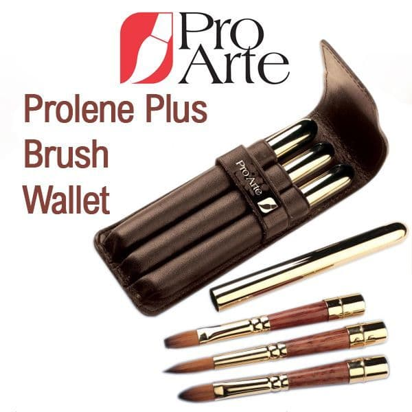 Pro Arte Series RBW Leather Wallet Brush Set