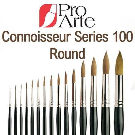 Pro Arte Watercolour Paint Brushes Connoisseur Series 100: Round