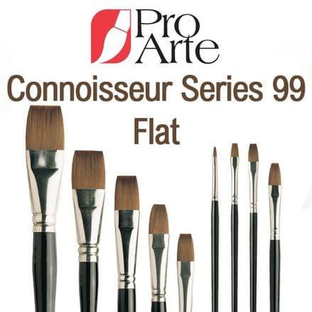 Pro Arte Watercolour Paint Brushes Connoisseur Series 99: Flat