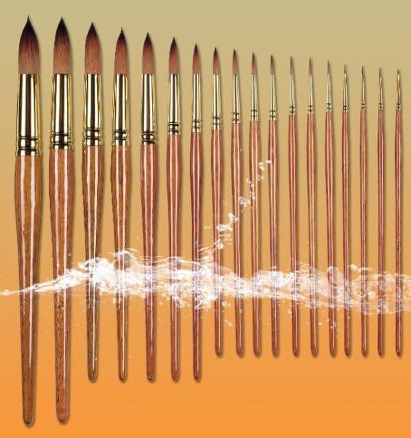 Pro Arte Watercolour Paint Brushes Prolene Plus  Series 007: Round