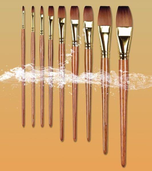 Pro Arte Watercolour Paint Brushes Prolene Plus Series 008: Flat