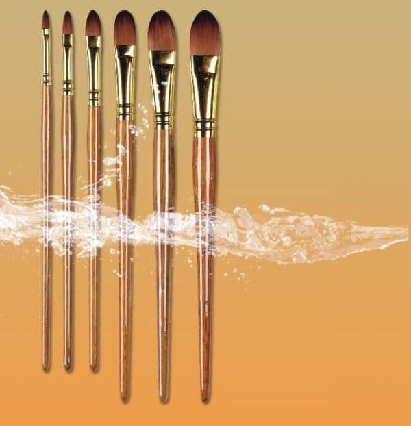 Pro Arte Watercolour Paint Brushes Prolene Plus  Series 009: Filbert