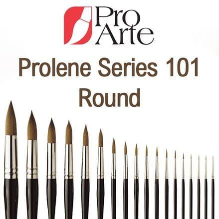 Pro Arte Watercolour Paint Brushes Prolene Series 101: Round