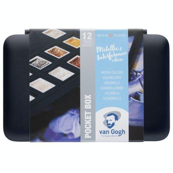 Royal Talens Van Gough Metallic Waterclour Pocket Box