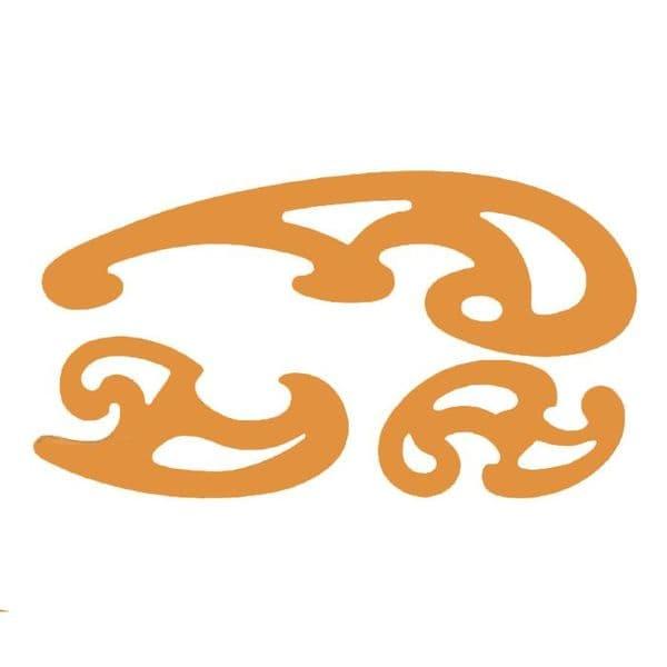 Set of 3 Orange French Curves
