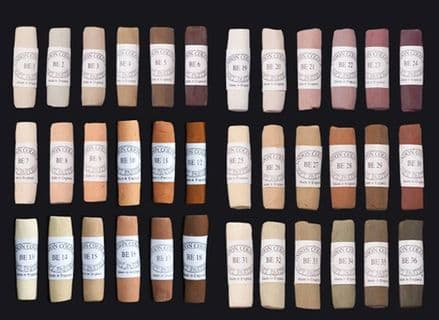 Unison Artists' Soft Pastels Brown Earth 1-36