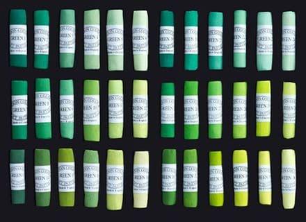 Unison Artists' Soft Pastels Green 1-36