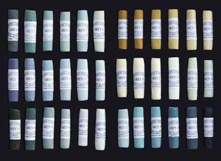Unison Artists' Soft Pastels Grey 1-36
