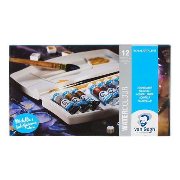 Van Gough Metallic & Iridescent Watercolour Tube Set