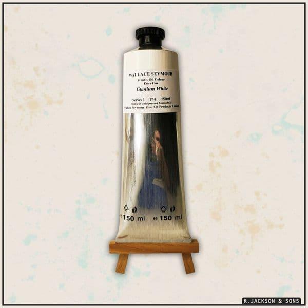 Wallace Seymour Artists' Oil Colour Paint Titanium White 150ml