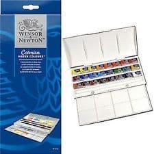 Winsor and Newton Cotman Studio 24 Whole Pan Watercolour Set