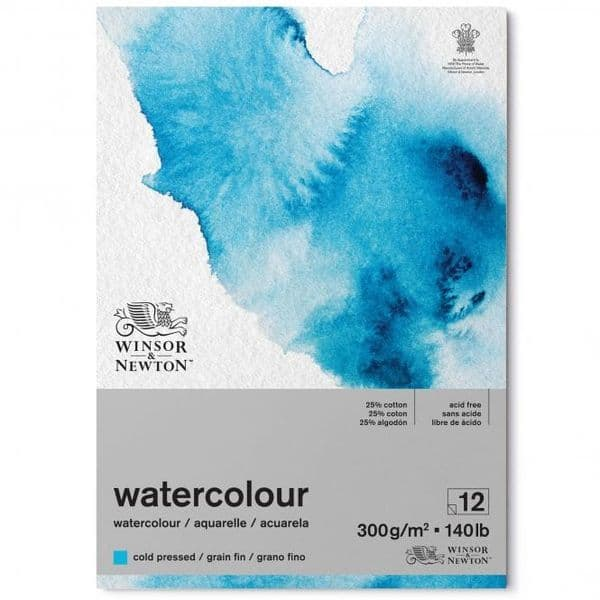 Winsor and Newton Watercolour Cold Pressed Pad 300gsm