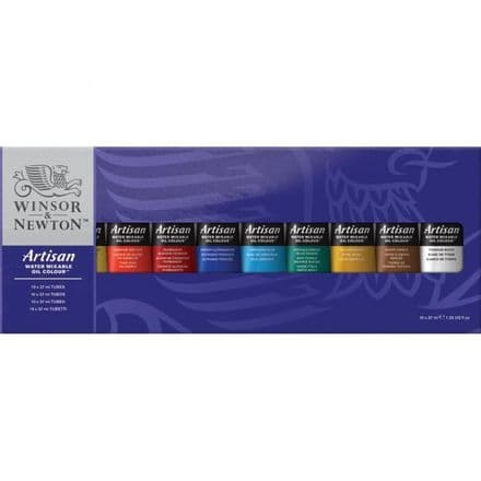 Winsor & Newton Artisan Oil Colour Paint  10 x 37ml Tube Set