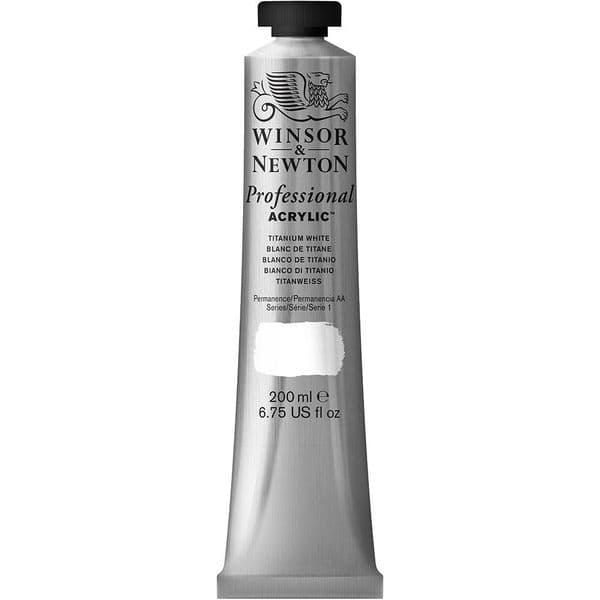Winsor & Newton Artists' Acrylic 200ml Titanium White