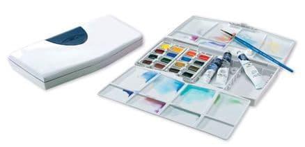 Winsor & Newton Cotman Painting Plus Watercolour Half Pan and Tube Set