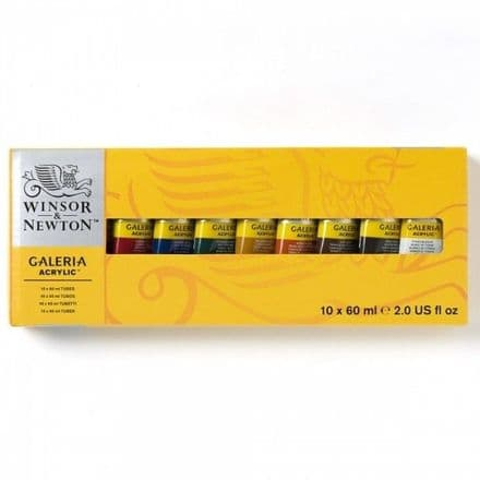Winsor & Newton Galeria Acrylic Tube 60ml Set of 10