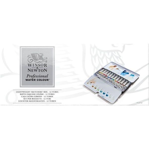 Winsor & Newton Professional Watercolour Lightweight Sketchers Box 12 x 5ml Tube