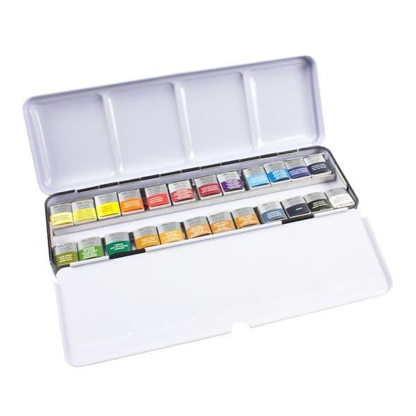 Winsor & Newton Professional Watercolour Lightweight Sketchers Box 24 Half Pans