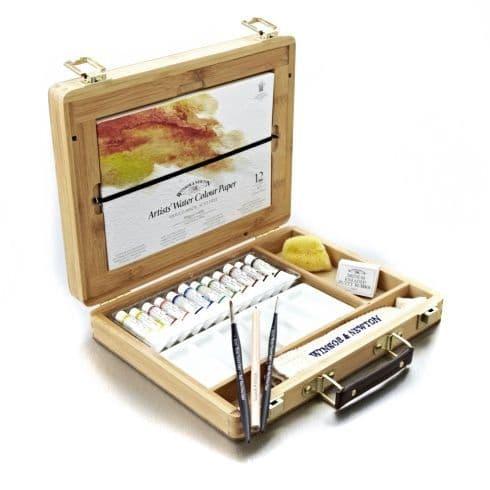 Winsor & Newton Professional Watercolour Tube Bamboo Box Set