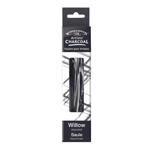 Winsor & Newton Willow Charcoal Assorted Pack of 12 Sticks