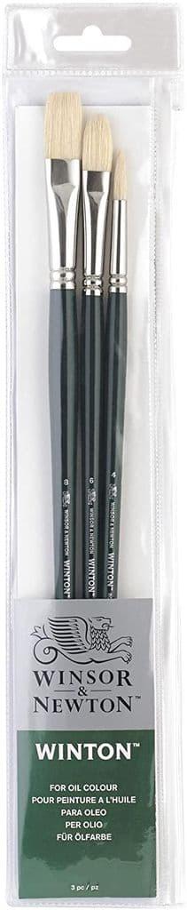 Winsor & Newton Winton Hog Long Handle Brush Pack of 3