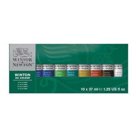 Winsor & Newton Winton Oil Colour Starter Set of 10 x 37 ml Tubes