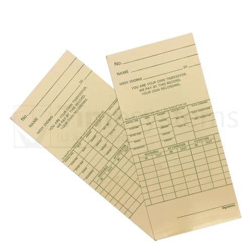 106532 Time Clock Cards