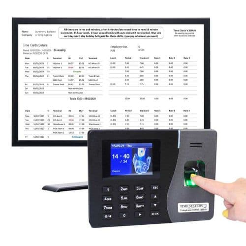 GeoTime 200 | 'Ultimate' Fingerprint biometric clocking in machine