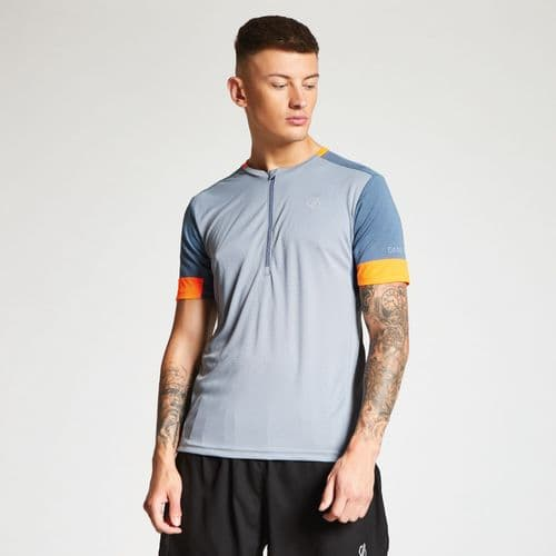 Dare2b Men's Equall Cycle Jersey Gravity Grey