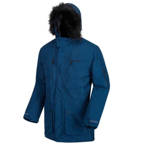 Men's Salinger Waterproof Insulated Parka Jacket Blue Wing