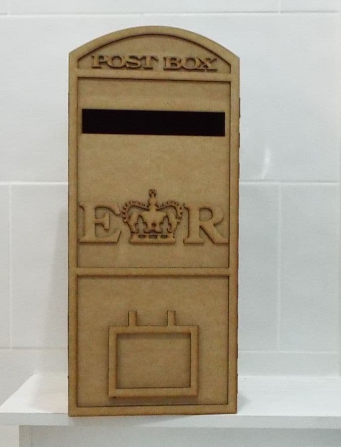 LARGE Wedding Card Post Box Royal mail Style 3mm laser cut mdf Flat Packed