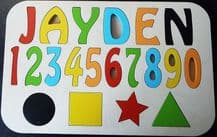 personalised Children's name puzzle up to 8 letters educational wooden toy H1